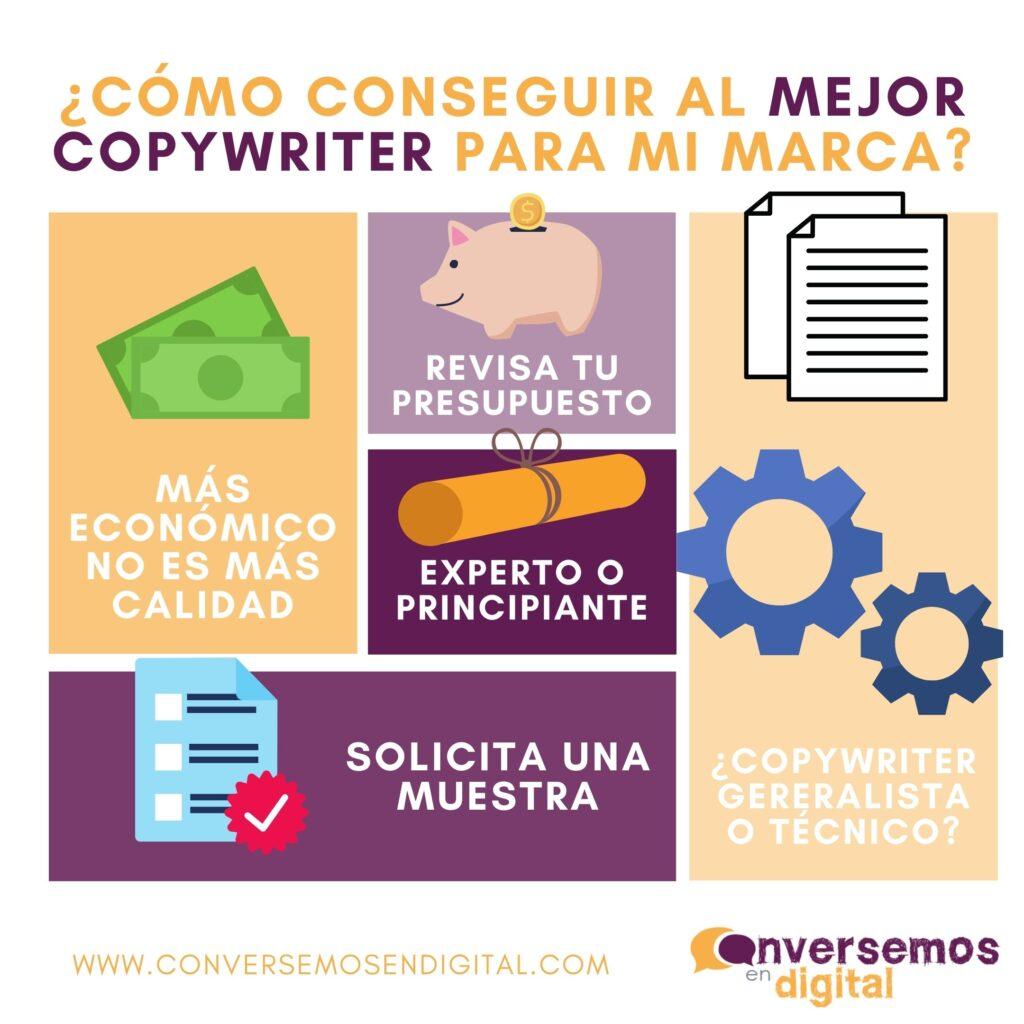 como conseguir un copywriter