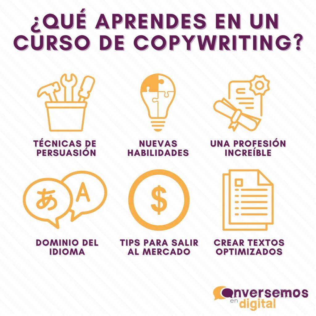 que aprendes en un curso de copywriting